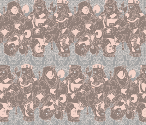 All the Queen's Men fabric by bekwith on Spoonflower - custom fabric