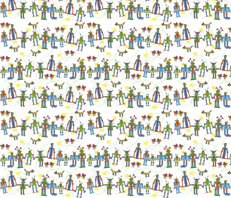 robots5a fabric by cht222 on Spoonflower - custom fabric