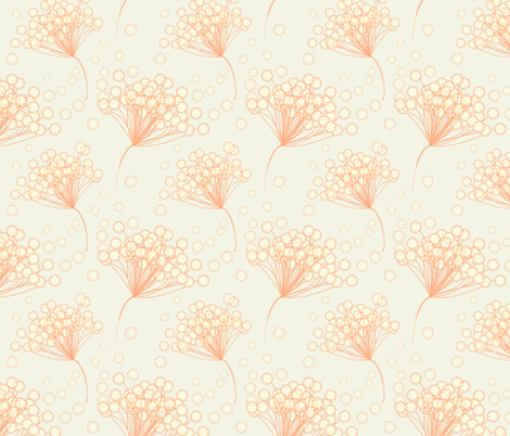 Orange Lace Flower fabric by emmyupholstery on Spoonflower - custom fabric