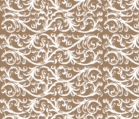 Bye Bye Birdie Brown Background fabric by creationsbycrissy on Spoonflower - custom fabric