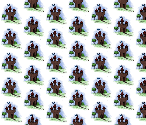 castle fabric by shout4joyquilter on Spoonflower - custom fabric