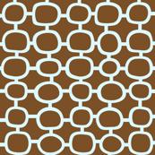 Mod Circles Blue 'n' Brown