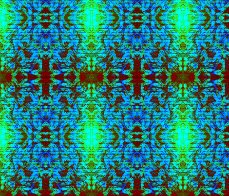 Design Delirium Blue aztec fabric by jan4insight on Spoonflower - custom fabric