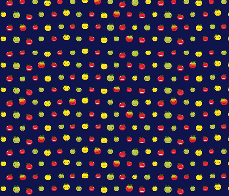 Smiling Apple Sweeties fabric by marilynpatrizio on Spoonflower - custom fabric