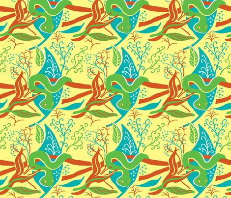Tropical Snake fabric by vinpauld on Spoonflower - custom fabric