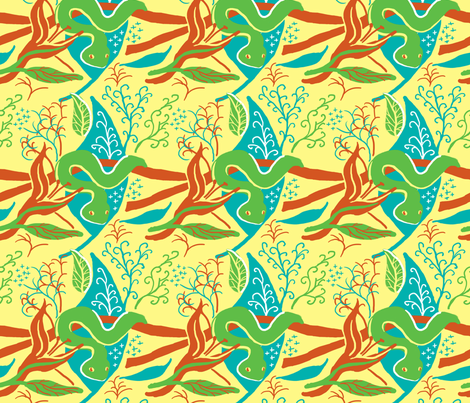 Tropical Snake fabric by vinpauld on Spoonflower - custom fabric