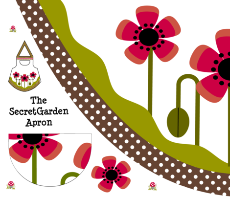 Secret Garden Apron - Quilting Weight