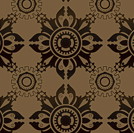 Steampunk Simple 1 fabric by jadegordon on Spoonflower - custom fabric