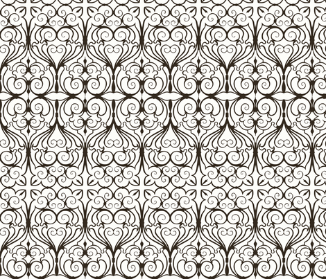 gothic iron work fabric by minimiel on Spoonflower - custom fabric