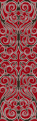 gothic iron work red
