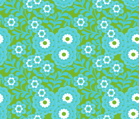 green_flowers fabric by nadja_petremand on Spoonflower - custom fabric