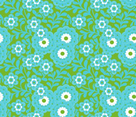 green_flowers fabric by nadja_petremand on Spoonflower - custom fabric