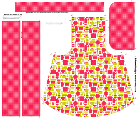 Kitchen Utensils Apron fabric by srbracelin on Spoonflower - custom fabric