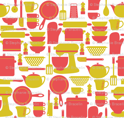 kitchen utensils wallpaper srbracelin spoonflower desktop tools superflash creative