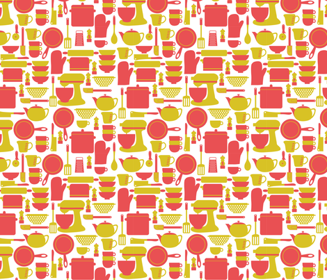 Kitchen Utensils fabric by srbracelin on Spoonflower - custom fabric