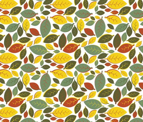 Tiki Party Leaf Rainbow fabric by fuzzyskyfabric on Spoonflower - custom fabric