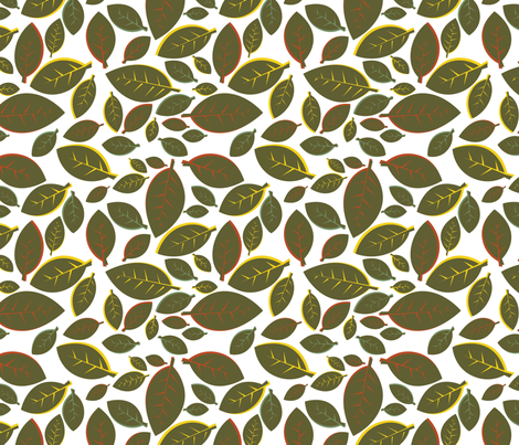 Tiki Party Leaf Green fabric by fuzzyskyfabric on Spoonflower - custom fabric