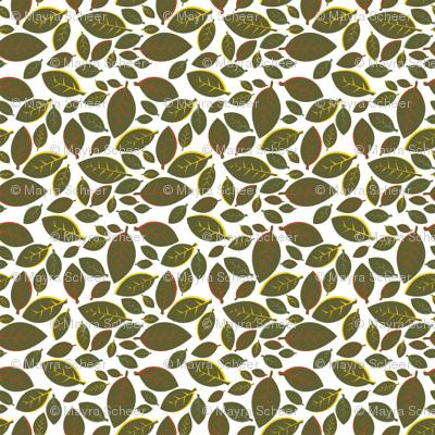 Tiki Party Leaf Green Small