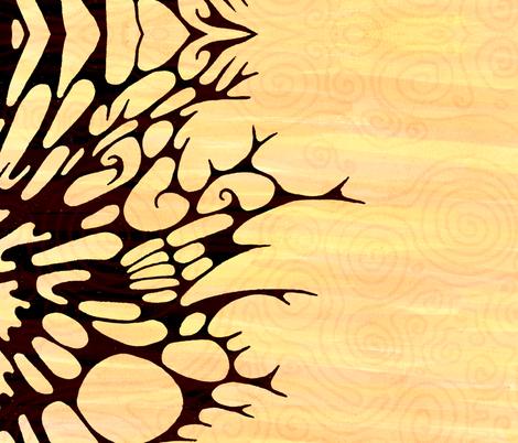 Scarf - Winter Sunrise  fabric by janicesheen on Spoonflower - custom fabric
