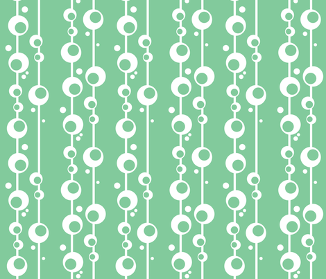 Bubbles in Seafoam fabric by delsie on Spoonflower - custom fabric