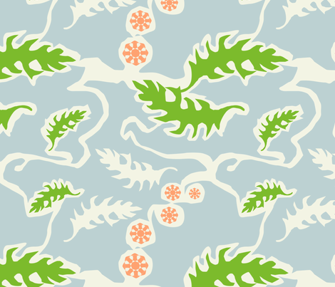 Garden Design fabric by emmyupholstery on Spoonflower - custom fabric