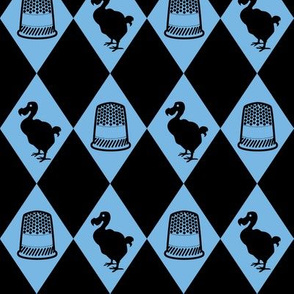 Alice Dodo & Thimble Pattern (blue and black)
