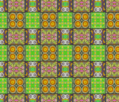 Suzani Squares Lime fabric by les68 on Spoonflower - custom fabric
