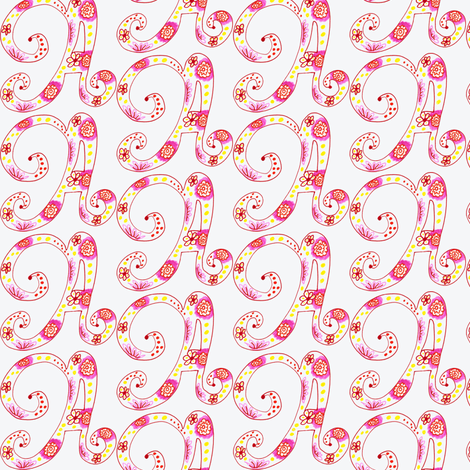 Letter A fabric by captiveinflorida on Spoonflower - custom fabric