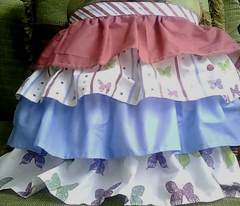 Bright Frilly Girly Curly Ruffled Apron