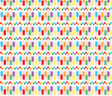 Popsicles fabric by kiwicuties on Spoonflower - custom fabric