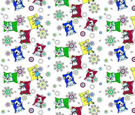 Dot & Bojo Jamboree fabric by kiniart on Spoonflower - custom fabric