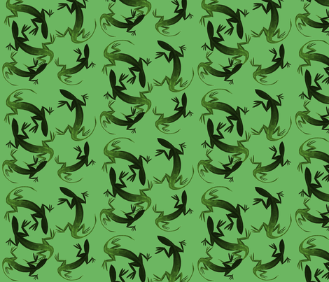 Lizardly, Green fabric by nalo_hopkinson on Spoonflower - custom fabric