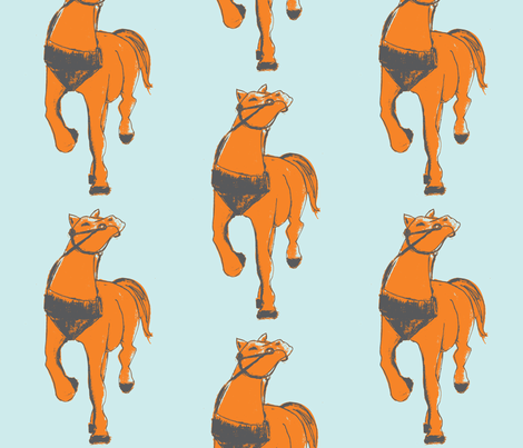 horsie#art fabric by arteija on Spoonflower - custom fabric