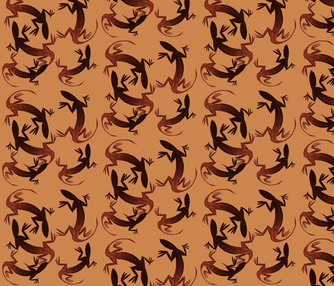 Lizardly, reddish-browns fabric by nalo_hopkinson on Spoonflower - custom fabric