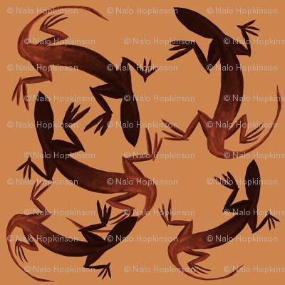 Lizardly, reddish-browns