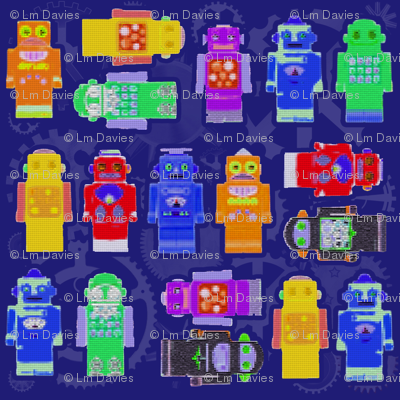 Blue Robot Crayons
