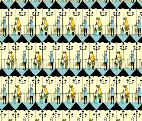 on this rainy day.... fabric by mummysam on Spoonflower - custom fabric