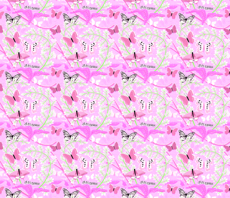 Butterfly_Pattern_pink fabric by vinpauld on Spoonflower - custom fabric