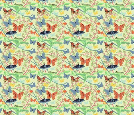 Colorful Butterflies and Caterpillars fabric by vinpauld on Spoonflower - custom fabric