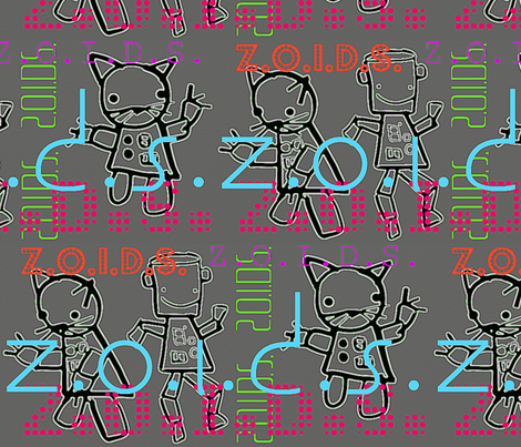 Z.O.I.D.S. fabric by pooky on Spoonflower - custom fabric