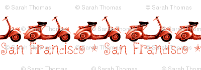 Vespa San Francisco Print
