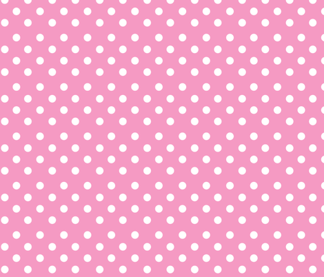 Pink Polkadot fabric by delsie on Spoonflower - custom fabric