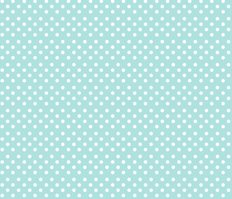 Polkadot in aquamarine fabric by delsie on Spoonflower - custom fabric