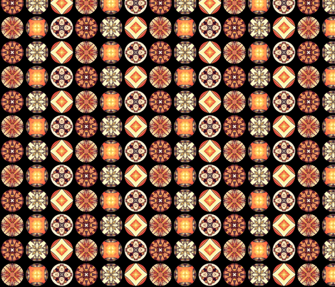 Hatsuhana's Disks fabric by siya on Spoonflower - custom fabric