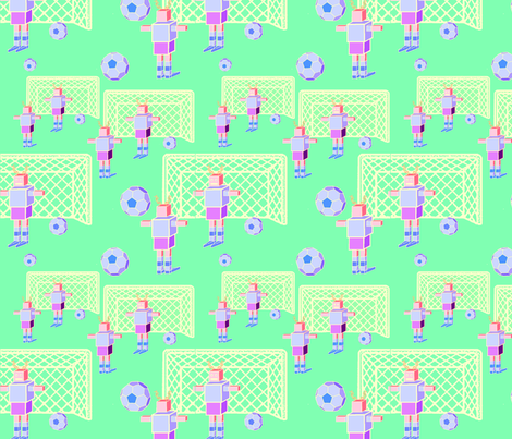 World Cup Robots fabric by upcyclepatch on Spoonflower - custom fabric