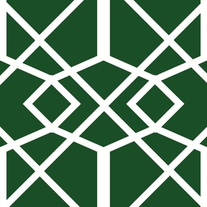 Chippendale_Trellis-green_and_white