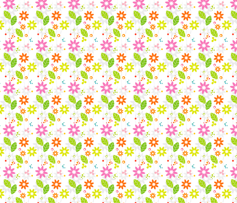 Retro Floral Whimsy fabric by dianarich on Spoonflower - custom fabric