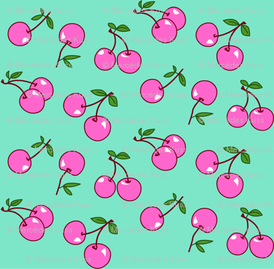 Cherries pink x mint