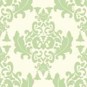 Celery Cream Damask