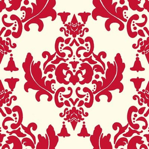 Cherry Cream Damask